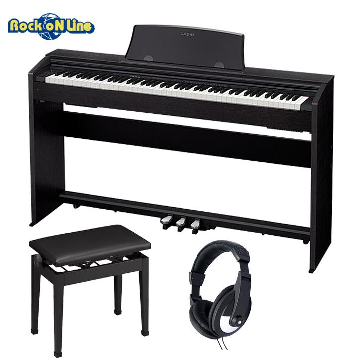 【クーポン配布中!】CASIO(カシオ) PX-770BK(ブラック) ヘッドホン+椅子セット【電子ピアノ】【88鍵盤】