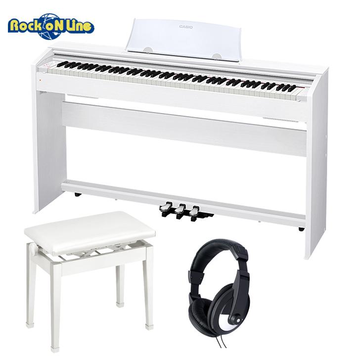 【本物新品保証】 CASIO(カシオ) PX-770WE(ホワイト) ヘッドホン+椅子セット【電子ピアノ】 CASIO(カシオ)【88鍵盤】, 2021年新作入荷:a460ad55 --- bodybylekan.com