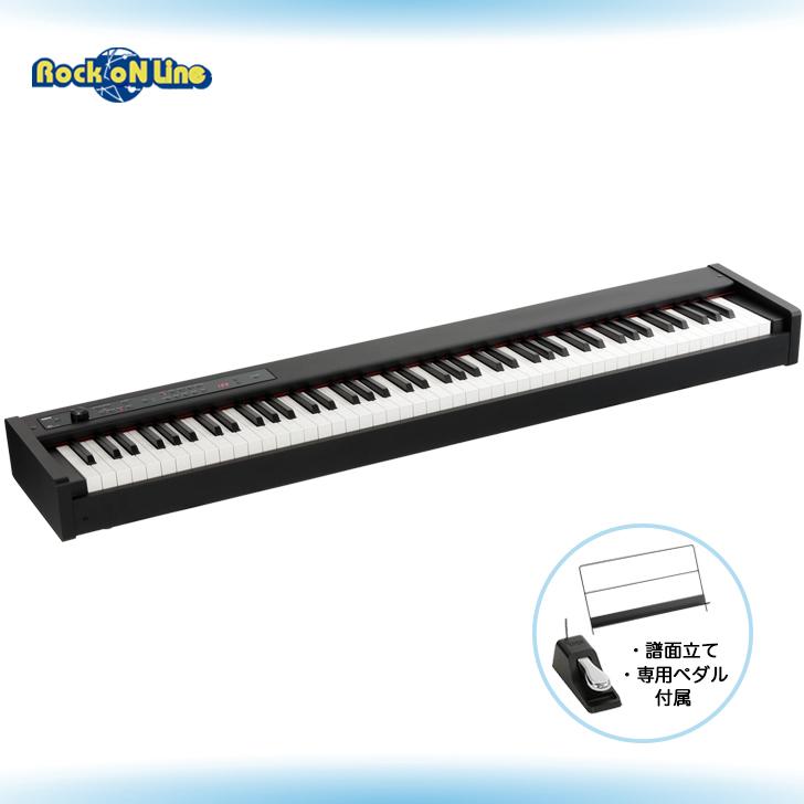 KORG DIGITAL 再再販 PIANO 電子ピアノ 日本正規代理店品 ブラック D1