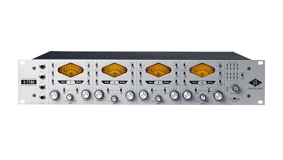 【クーポン配布中!】Universal Audio(ユニバーサルオーディオ) 4-710D Four-Channel Twin Finity Mic Pre/DI w/Dynamics【★値上げ前在庫限り特価!】【レコーディング】【マイクプリ】