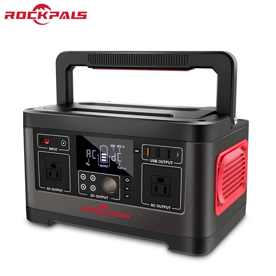 Rockpals ポータブル電源 大容量 520Wh/140400mAh 500W 家庭用蓄電池 純正弦波 発電機 Type-C/AC/DC/USB出力 車中泊 キャンプ アウトドア 防災グッズ 停電時に 非常用電源 24ヶ月保証 P63 Rockpals最新作登場!おすすめ