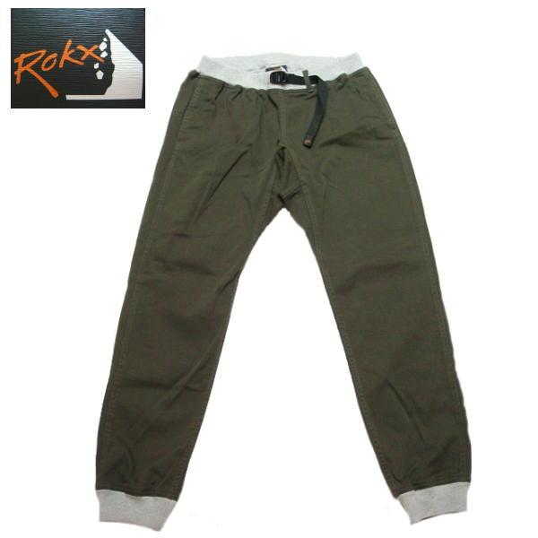 ロックス ROKX エムジーウッドパンツ ストレッチ クライミングパンツ メンズ リブパンツ RXMS191020 オリーブ