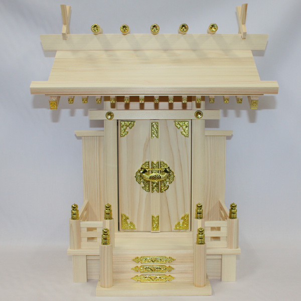国産東濃檜製神棚 大神明(だいしんめい) 日本製 一社神棚 【あす楽対応】 白木 無塗装 桧 ひのき 簡易神棚