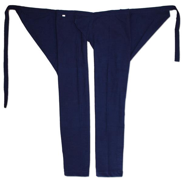 お祭用品 祭古 スラブ股引 藍染め 大人用小~大 お祭り衣装 お祭り用品 ももひき モモヒキ パッチ ネイビー 紺 ズボン パンツ おとな用
