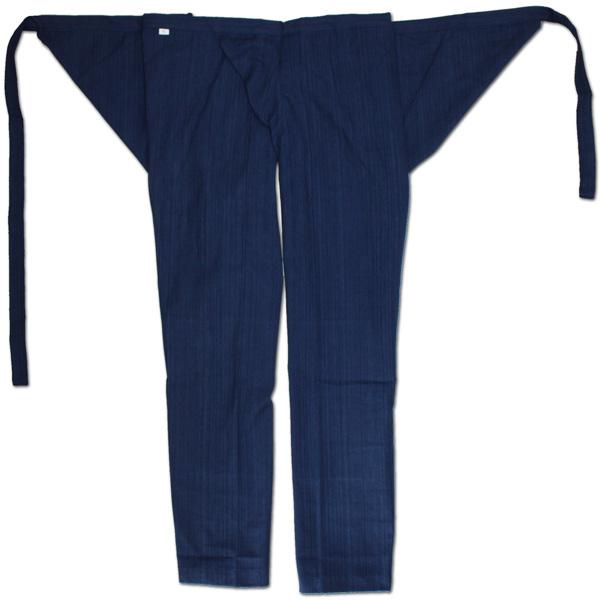 お祭用品 祭古 浅葱縞股引 藍染め 大人用小~大 お祭り衣装 お祭り用品 ももひき モモヒキ パッチ ネイビー 紺 ズボン パンツ おとな用