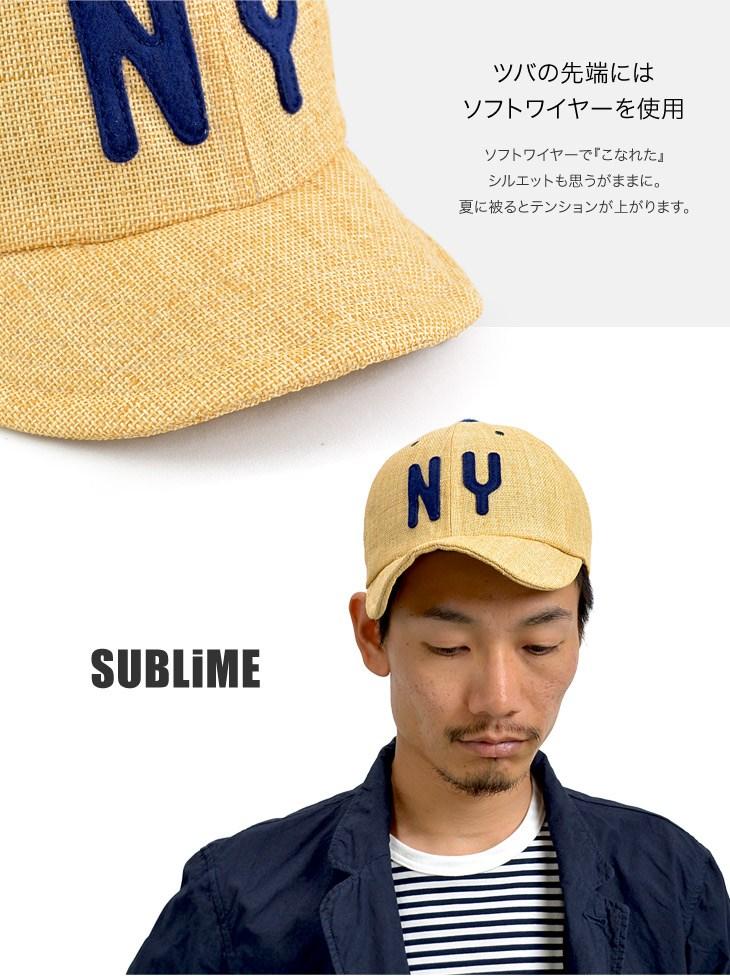 SUBLIME(副酸橙)纸交叉棒球盖子/人帽子盖子夏天/日本制造