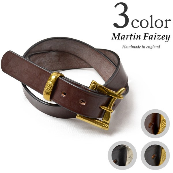 【5%OFFクーポン対象】MARTIN FAIZEY (マーティンフェイジー) 1.25インチ(30mm)クイックリリースベルト レザーベルト / メンズ / 英国製 / 1.25 INCH QUICK RELEASE BELT