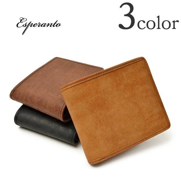 【5%OFFクーポン対象】ESPERANTO(エスペラント) プエブロ レザー パイピングショートウォレット / 二つ折り / 革 / 財布 / メンズ / PUEBLO PIPING SHORT WALLET / ESP-6209 / 日本製