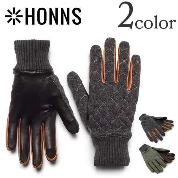 HONNS(ホンズ) レザーウールキルティンググローブ / 手袋 / スマホ対応 / パーカー / メンズ / MENS PARKER