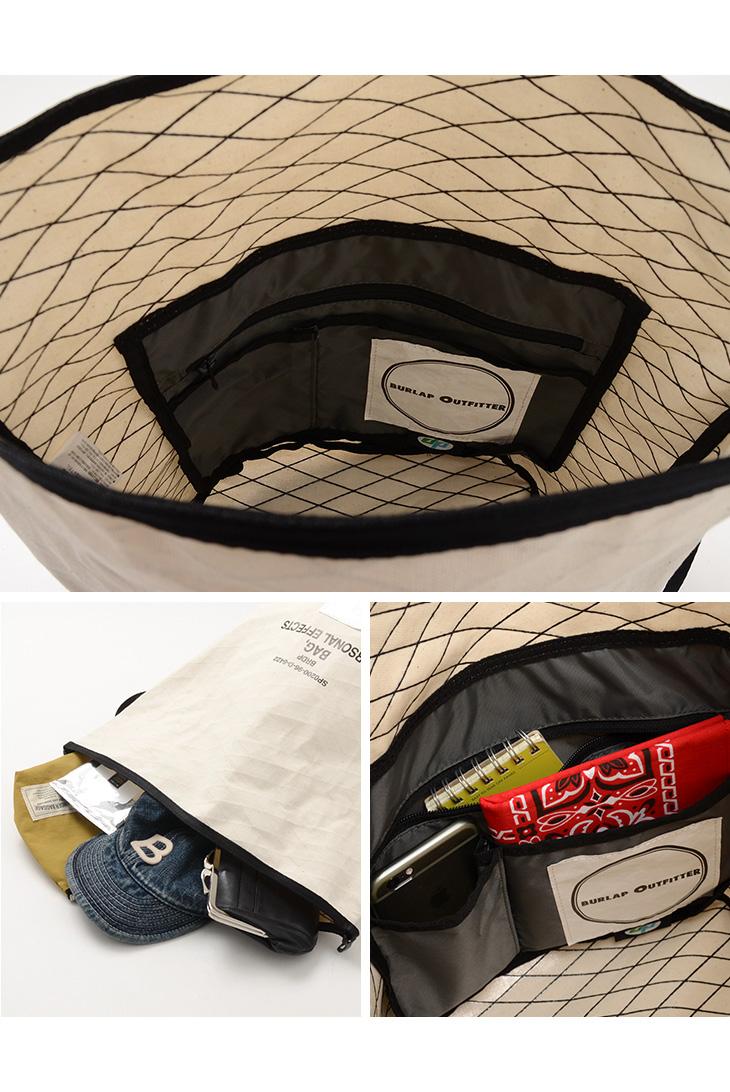 BURLAP OUTFITTER バーラップアウトフィッターパーソナル エフェクト バッグ ラージショルダーバッグ斜め掛けメンズ レディースPERSONAL EFFECT BAG LARGEKul3FcJT15