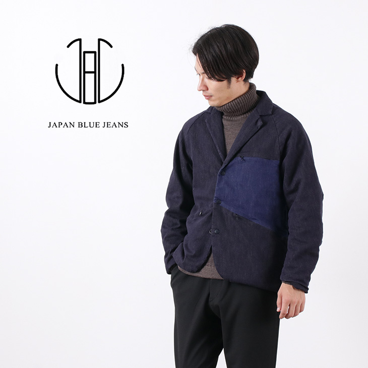 期間限定ポイント10倍 22日01 59まで JAPAN BLUE JEANS ジャパンブルージーンズJ414921 シン・デニム サイクル テーラードジャケットメンズ日本製ストレッチ中綿SHIN DENIM CYCLE TAILORED JKTwXiulTOPkZ