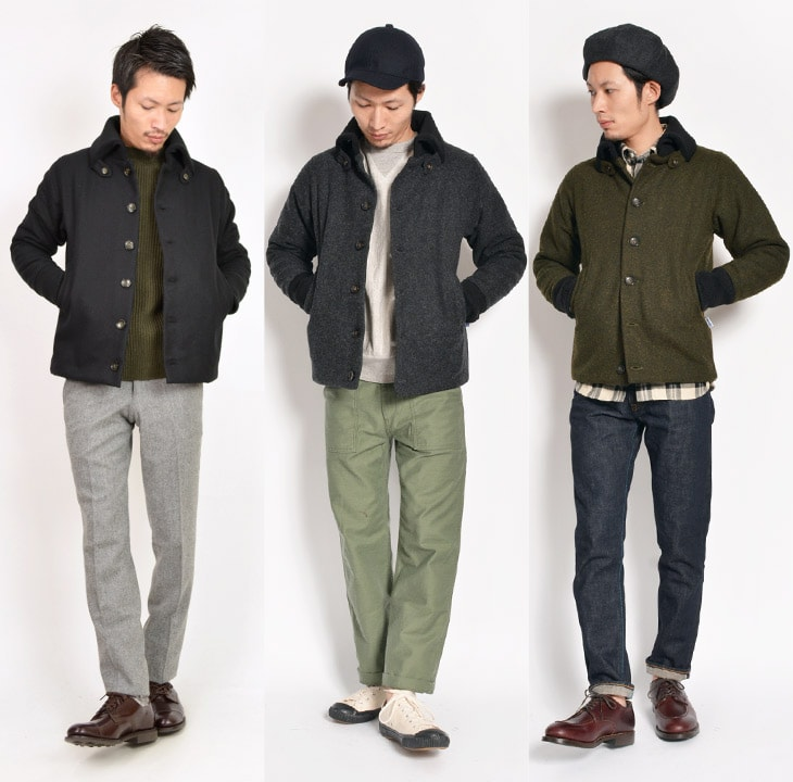 Product made in YARMO (ヤーモ) Don key coat / jacket / wool jacket / batting / men / U.K.