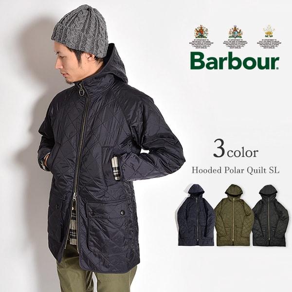 BARBOUR(バブアー) フードポーラーキルト SL キルティングジャケット / ポーラキルト / 中綿 / メンズ / MQU0758 / HOODED POLAR QUILT SL