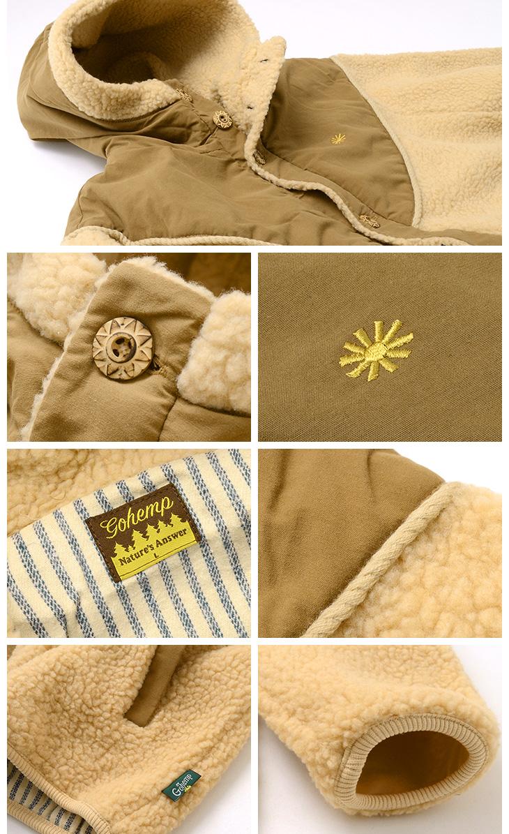 a37dea454e6 GOHEMP (go hemp) Mongolian food jacket   boa fleece jacket   men   MONGOLIAN  HOODY JACKET
