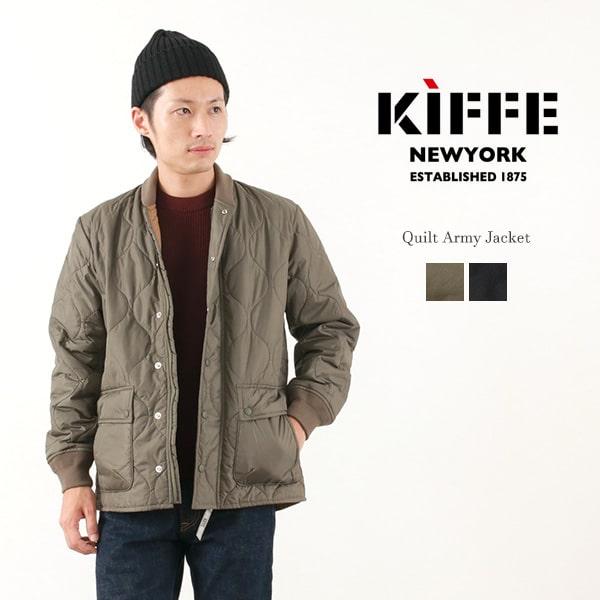 KIFFE(キッフェ) キルト アーミー ジャケット / キルティング / ミリタリー / 中綿 / メンズ / QUILT ARMY JACKET