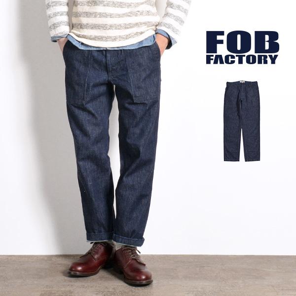 FOB FACTORY(FOBファクトリー) F0439 デニムベイカーパンツ / ファティーグパンツ / ワークパンツ / メンズ / 日本製 / DENIM BAKER PANTS