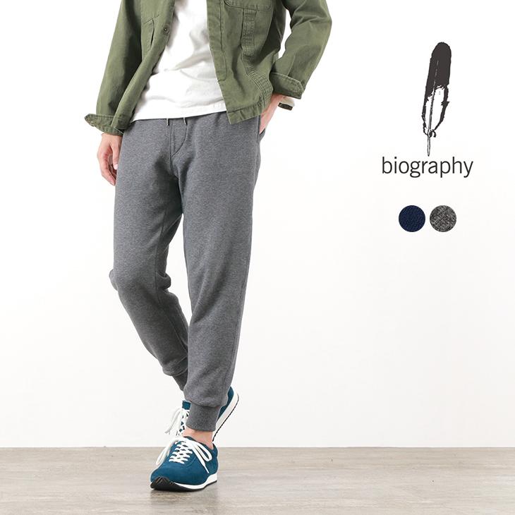 BIOGRAPHY(バイオグラフィー) コットン スエード スウェット パンツ / イージーパンツ / セットアップ / メンズ / 日本製 / COTTON SUEDE SWEAT PANTS