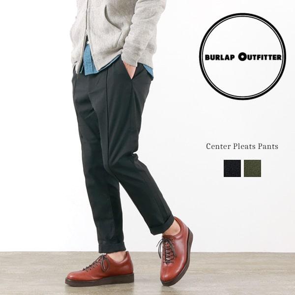 BURLAP OUTFITTER(バーラップアウトフィッター) センタープリーツパンツ / イージーパンツ スラックス / メンズ / CENTER PLEATS PANTS