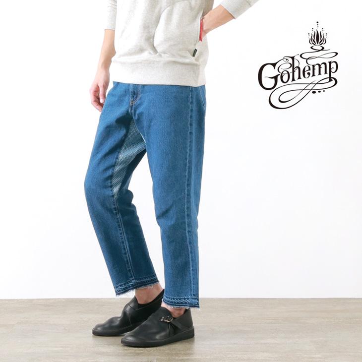 【30%OFF】GOHEMP(ゴーヘンプ) ホーボー 5ポケットパンツ / 12oz デニム ジーンズ / ワイド テーパード / アンクルカット / メンズ / 日本製 / HOBO 5POCKETS PANTS【セール】