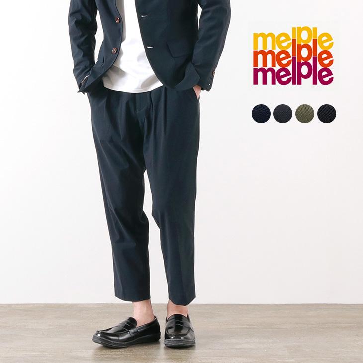 どこへでも穿いて行きたいmelpleの定番 【期間限定ポイント10倍】MELPLE(メイプル) トムキャット ワンタック リラックス パンツ / メンズ / 日本製 / TOMCAT ONE TUCK RELAX PANT