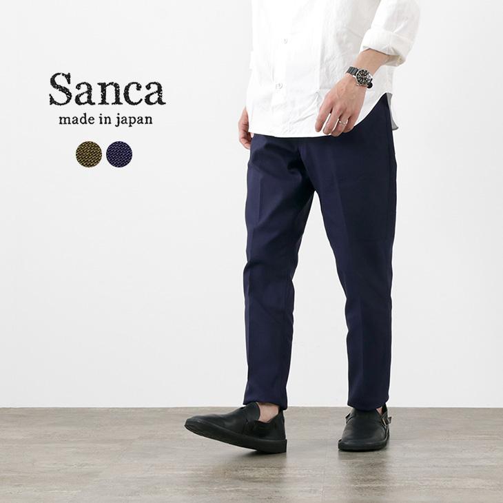 【正規取扱店】 SANCA(サンカ) ホップサック テーパード 5P パンツ / メンズ / 日本製 / コットン / スラックス / 涼しい / 通気性 / HOPSACK TAPERED 5P, Satie サティーチョコレート 0339e22a
