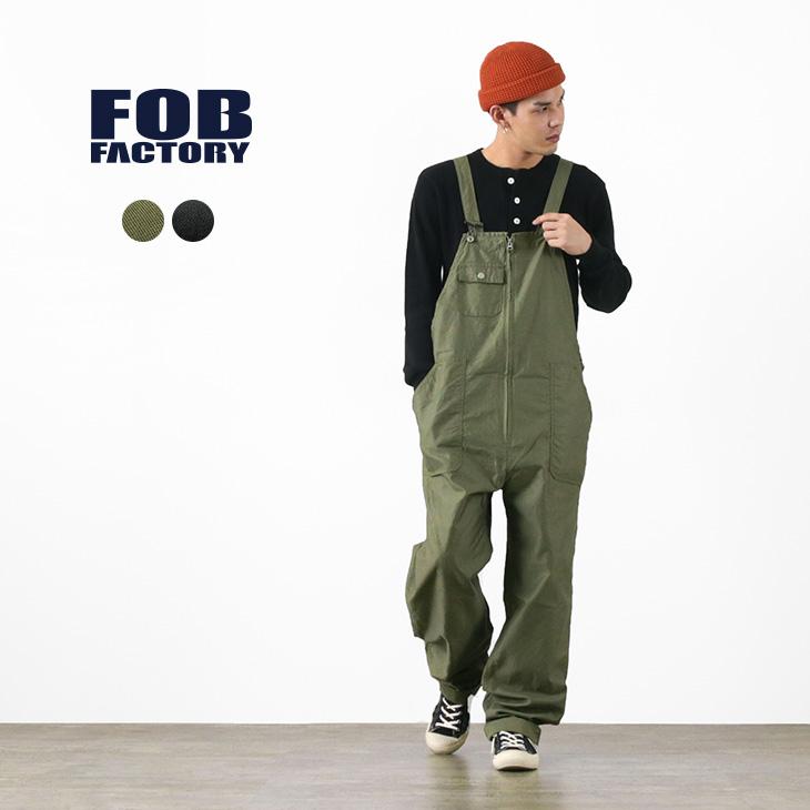軍物オーバーオールをデザインソースに FOB FACTORY (FOBファクトリー) F0489 / ミリタリー オーバーオール / メンズ / サロペット / 日本製 / MILITARY OVER-ALL