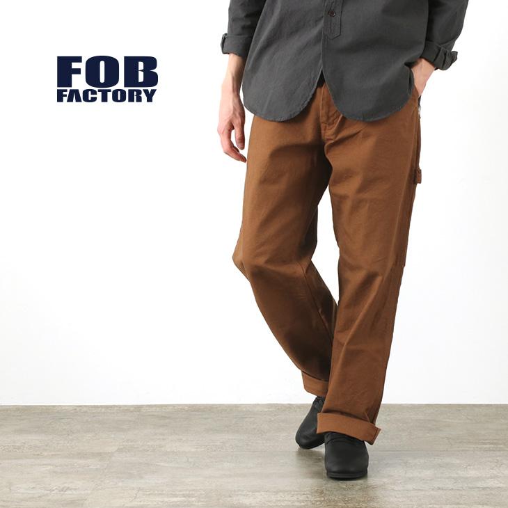 ルーズ過ぎないペインターパンツ FOB FACTORY 毎週更新 FOBファクトリー F0499 メンズ ワーク 日本製 信用 ダック ペインターパンツ