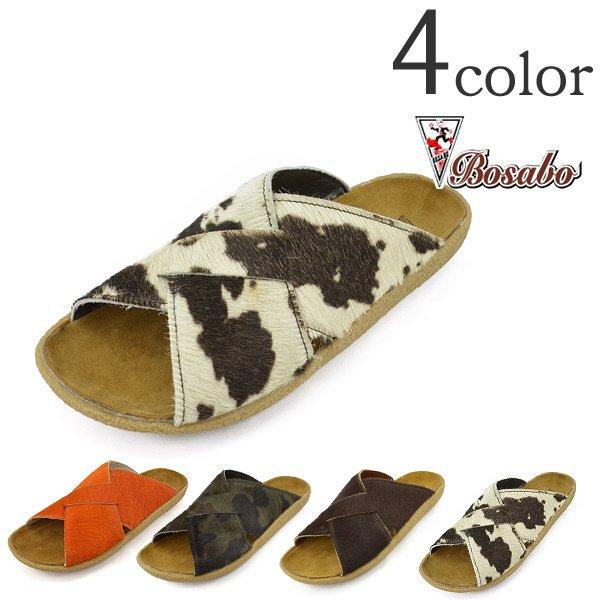 BOSABO (博薩博) 越過皮革涼鞋平