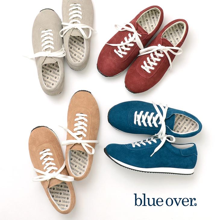 【2点以上で10%OFFクーポン】BLUEOVER (ブルーオーバー) スエード スニーカー / マイキー MIKEY / スウェードレザー / ローカット / 日本製