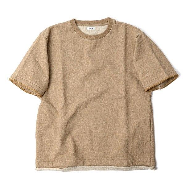 BLURHMS(勃拉姆斯)cut断开半套衫刺绣品松懈合身/短袖运动衫/人/日本制造