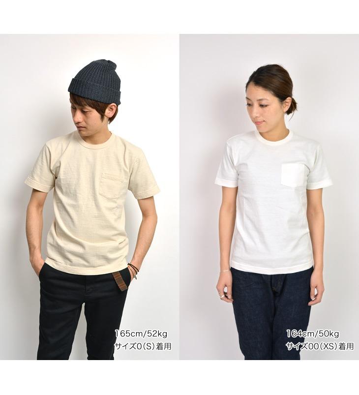 BARNS(巴恩斯)悬挂制造印度rupuuirukurunekkupoketto T恤/美国棉/人/短袖素色/日本制造/BR-1100
