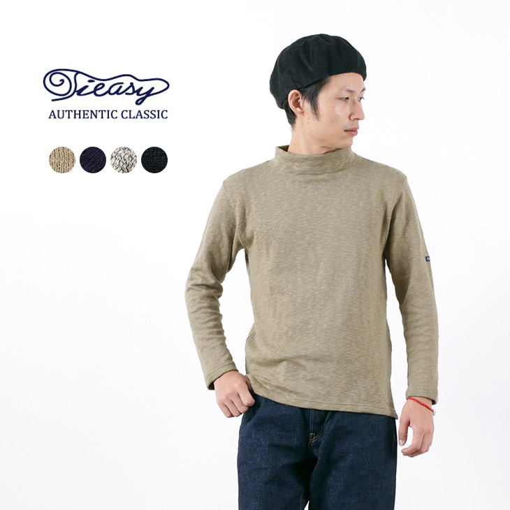 スラブが魅せる豊かな表情と快適な着心地。 TIEASY(ティージー) オリジナル モックネック / メンズ / 無地 / コットン / 日本製 / TE002M / ORIGINAL MOC NECK