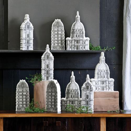 販売 サービス クラシックな建造物の陶器製バンク ロタンダ バンク capital
