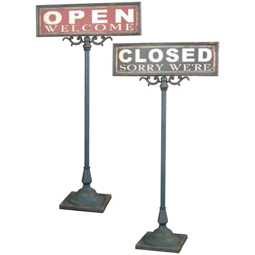 DULTON OPEN-CLOSED SIGN STAND オープン クローズ サイン スタンド