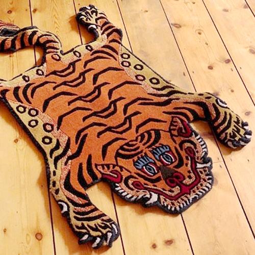 チベタンタイガーラグ ラージ W90×T160cm