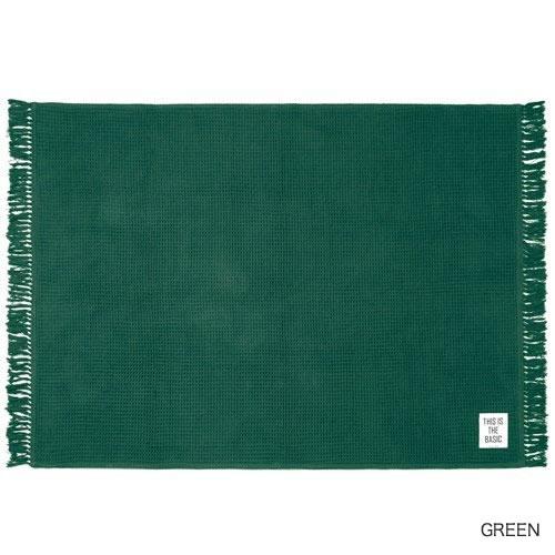 FRINGE WAFFLE BASIC RUG フリンジ ワッフル織り ラグマット 140×200cm(001224)