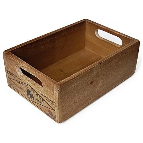 スタッキングできる木製ボックス DULTON モデル着用&注目アイテム ウッデン ボックス ストッカー CH14-H500NT 今ダケ送料無料
