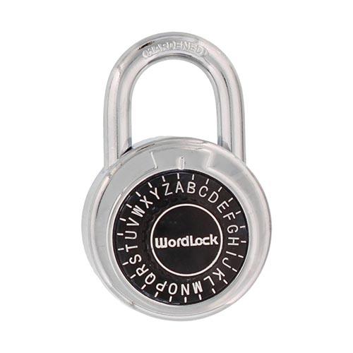 お得 あらかじめ設定された3文字のパスワードで信頼性の高い南京錠 在庫あり WordLock コンビネーションパッドロック PL-127-CP 南京錠