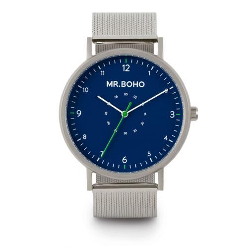 スペイン発の腕時計MR.BOHO. Mr.BOHO ミスターボーホー SPORTY 新品未使用 16-S-IB METALLIC 5気圧防水 腕時計 激安卸販売新品