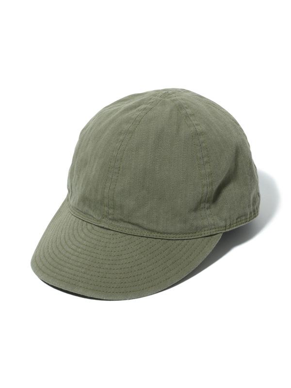 バズリクソンズ BUZZ RICKSON'S キャップ メンズ 帽子 CAP MECHANICS TYPE A-3 東洋エンタープライズ 日本製 ヘリンボーン ARMY アーミー AIR FORCE エア フォース オリーブ OLIVE BR02536