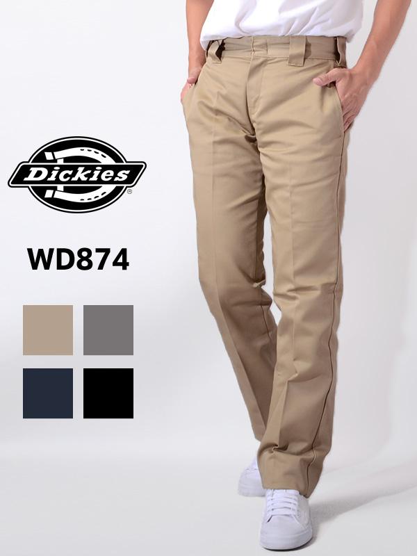 Dickies ディッキーズ パンツ メンズ レディース ユニセックス FLAT FRONT WORK PANT ワークパンツ チノパン ベージュ パンツ TCツイル ローライズ ディッキ ワークウェア ストリート DK000004 874 WD874