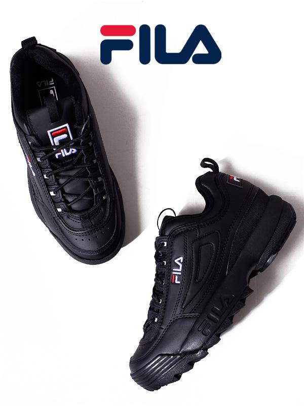 期間限定!!最大20%OFFクーポン対象商品 FILA フィラ スニーカー レディース メンズ ユニセックス 黒 ブラック おしゃれ ダッドシューズ ダッドスニーカー DISRUPTOR 2 ディスラプター 厚底スニーカー 靴 通学 通勤 カジュアル ランニング シューズ F0215-1073