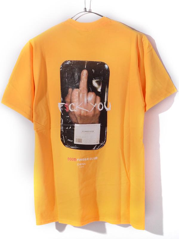 【ゆうメール便送料無料】FOUR FINGER CLUB フォーフィンガークラブ 4 FINGER CLUB Tシャツ メンズ レディース ユニセックス 半袖 ブランド 大きいサイズ 5-4FINGER 指 F$CK YOU ストリート カルチャー 5-4FINGER-Y
