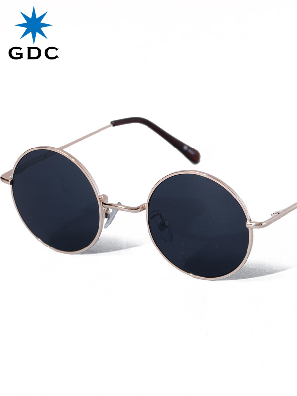 GDC サングラス メンズ レディース ユニセックス ブランド おしゃれ かわいい 丸 黒 ブラック 丸メガネ ジーディーシー WANDERLUST ワンダラスト GGDC ジージーディーシ― 眼鏡 メガネ カラーレンズ ドライブ フェス 海 33030-BLK