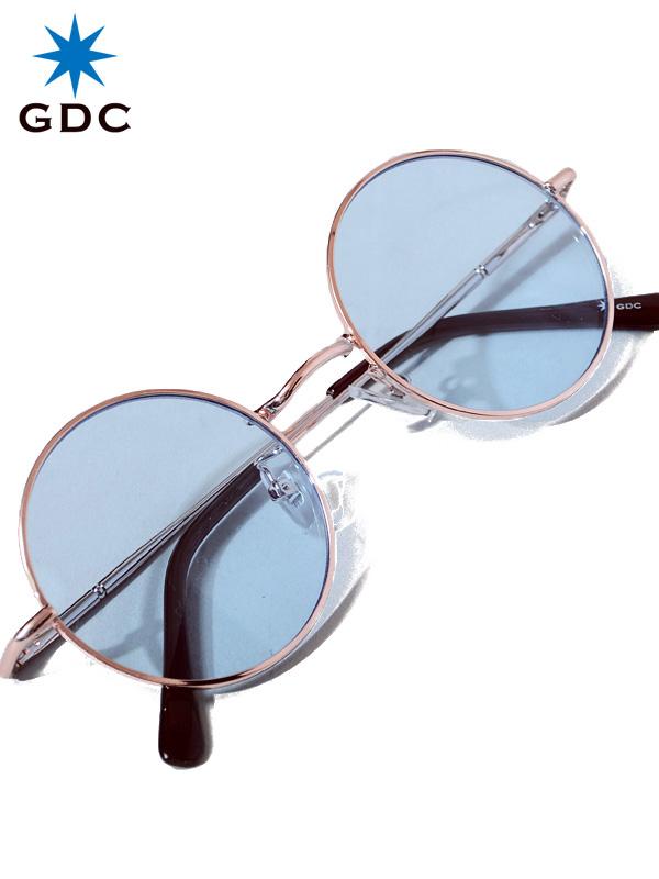 GDC ジーディーシー サングラス メンズ レディース ユニセックス ブランド おしゃれ かわいい 薄い 色 青 WANDERLUST ワンダラスト GGDC ジージーディーシ― 眼鏡 メガネ 丸メガネ カラーレンズ ドライブ フェス 海 33030-BLU