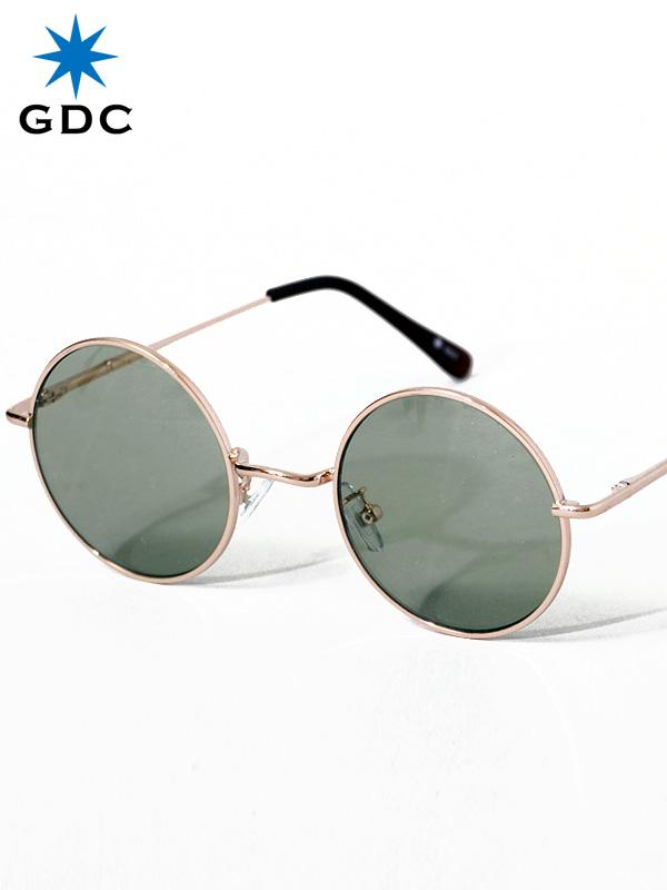 GDC サングラス メンズ レディース ユニセックス ブランド おしゃれ かわいい 丸 薄い 色 グリーン 丸メガネ ジーディーシー WANDERLUST ワンダラスト GGDC 眼鏡 メガネ カラーレンズ ドライブ フェス 海 33030-GRN