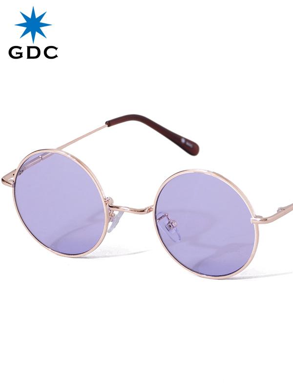GDC サングラス メンズ レディース ユニセックス ブランド おしゃれ かわいい 丸 薄い 色 紫 丸メガネ ジーディーシー WANDERLUST ワンダラスト GGDC ジージーディーシ― 眼鏡 メガネ カラーレンズ ドライブ フェス 海 33030-PPL