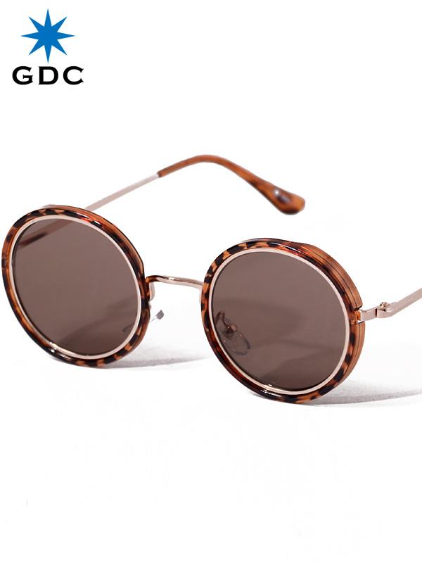 GDC サングラス メンズ レディース ユニセックス ブランド おしゃれ かわいい 丸 薄い 色 ブラウン 丸メガネ ジーディーシー SUNGLASSES-G 眼鏡 メガネ カラーレンズ ドライブ フェス 海 川 レジャー C37029-BRN