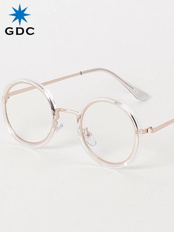 GDC サングラス メンズ レディース ユニセックス ブランド おしゃれ かわいい 丸 薄い 色 クリアー 丸メガネ ジーディーシー SUNGLASSES-G 眼鏡 メガネ カラーレンズ ドライブ フェス 海 川 レジャー C37029-CLR