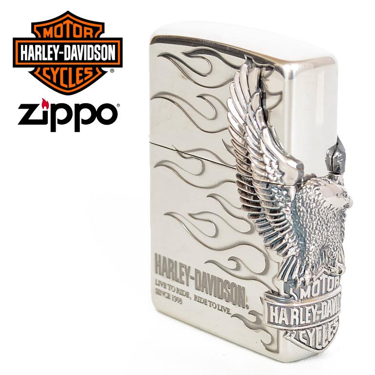 ハーレーダビットソン ジッポ zippo Harley Davidson イーグル 鷲 炎 HDP-04